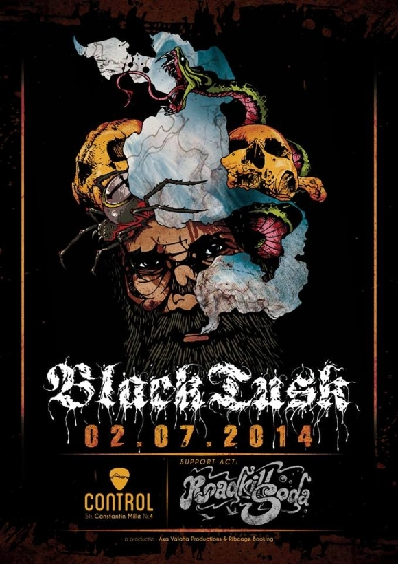 Concert Black Tusk si Roadkill Soda in Club Control