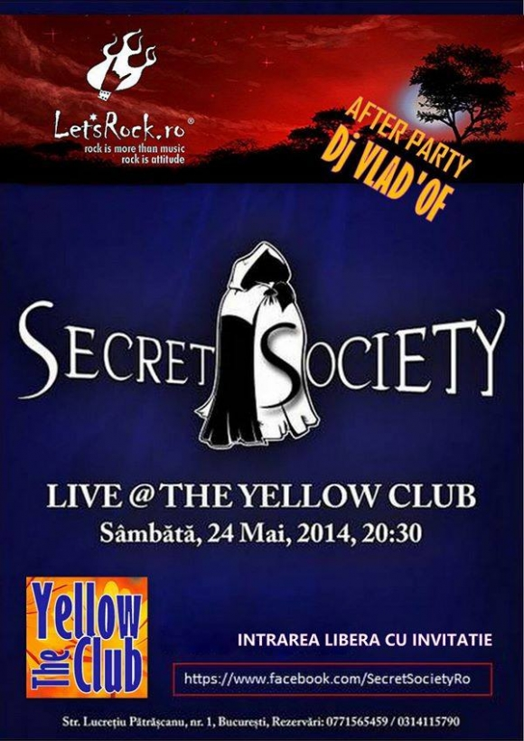 Concert Secret Society in The Yellow Club