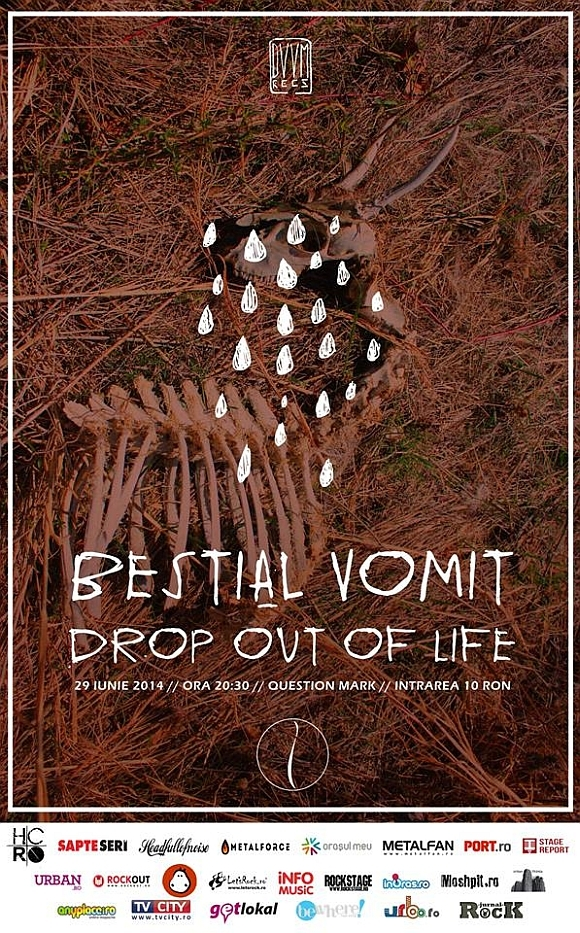 Concert Bestial Vomit si Drop Out of Life in Question Mark din Bucuresti
