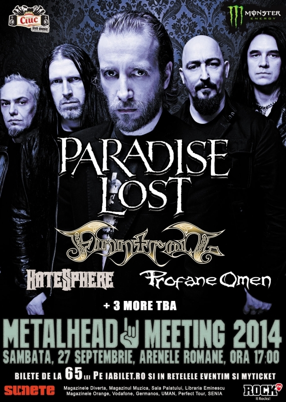 Paradise Lost revine la Bucuresti la Metalhead Meeting 2014 Bis