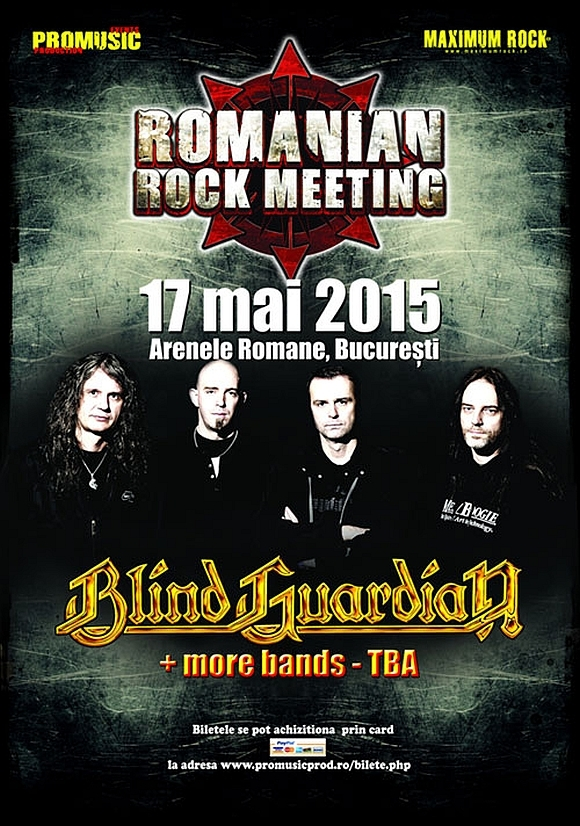 Trupa Blind Guardian confirmata la Romanian Rock Meeting 2015