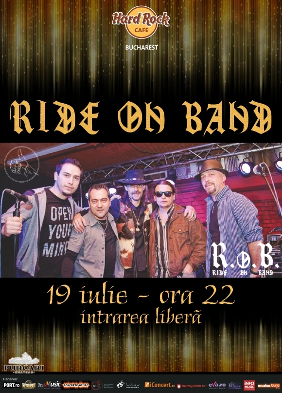 Concert Ride On Band la Hard Rock Cafe din Bucuresti