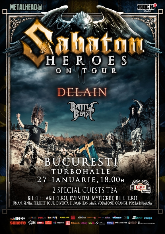 Sabaton la Bucuresti: Inca o categorie de bilete Sold Out