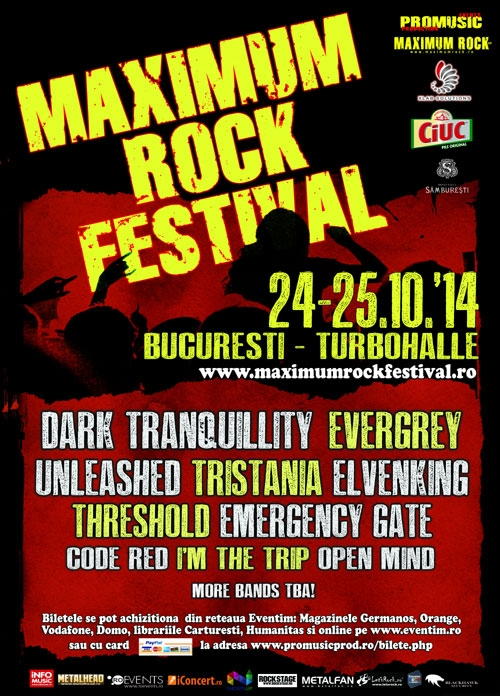 Dark Tranquillity, al doilea headliner confirmat la Maximum Rock Festival 2014
