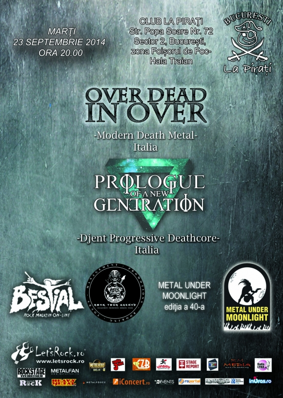 Concert Over Dead In Over si Prologue Of A New Generation in premiera la Bucuresti!