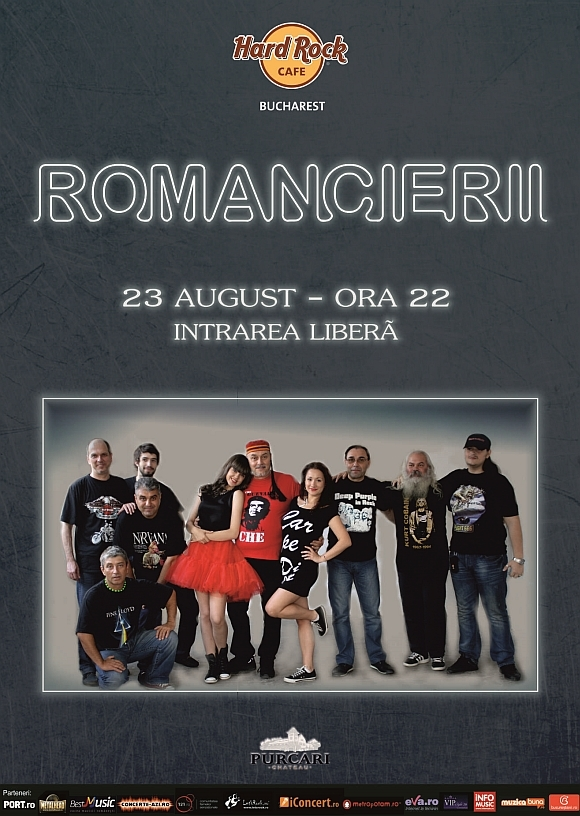 Concert Romancierii la Hard Rock Cafe din Bucuresti