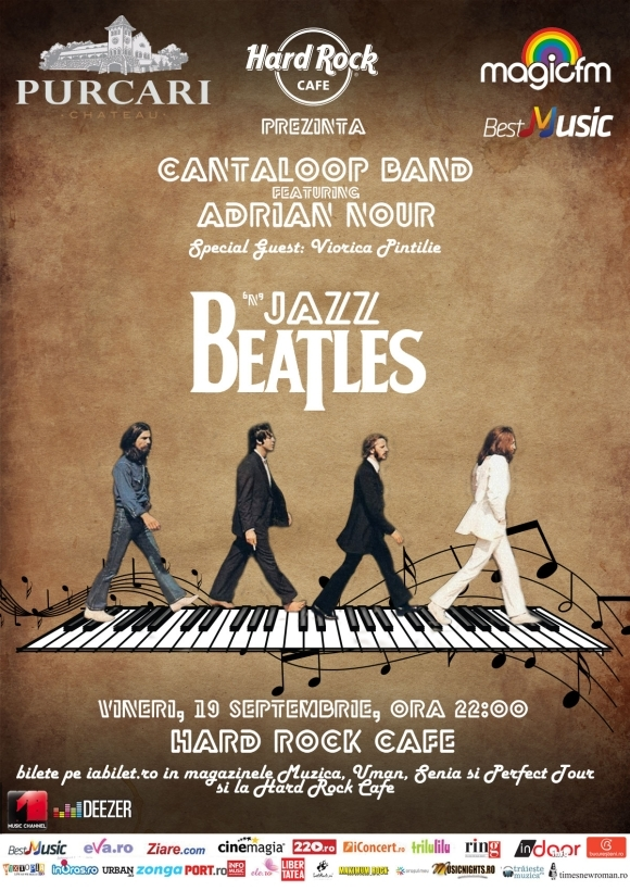 Concert Beatles'N'Jazz cu Adrian Nour & Cantaloop la Hard Rock Cafe