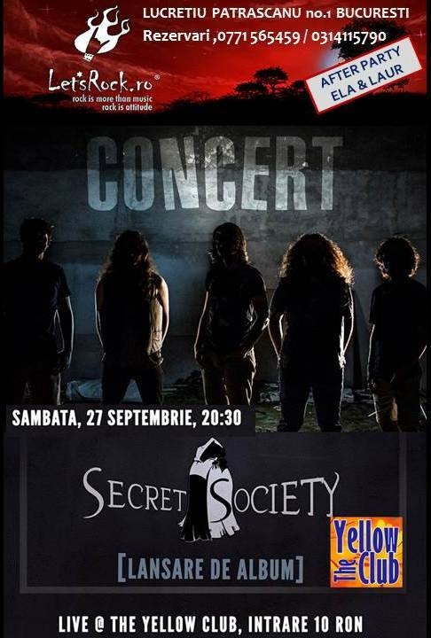 Concert Secret Society in The Yellow Club din Bucuresti