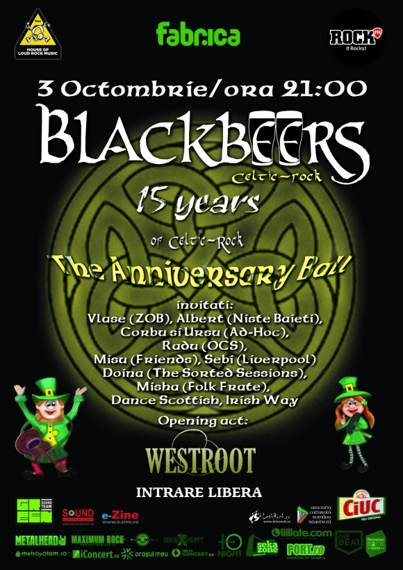 Concert aniversar Blackbeers in Club Fabrica din Bucuresti