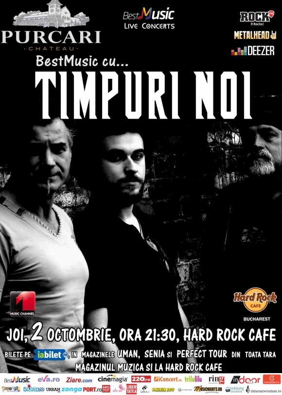 Timpuri Noi in concert la Hard Rock Cafe
