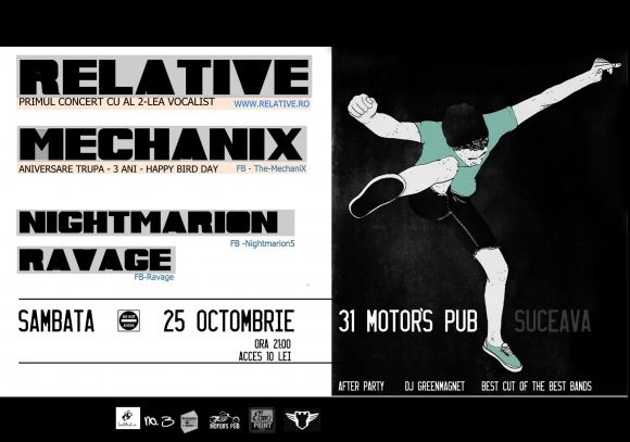Concert Relative, Mechanix, Nightmarion si Ravage in 31 Motor's Pub