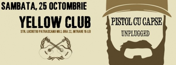 Concert acustic Pistol Cu Capse in Yellow Club