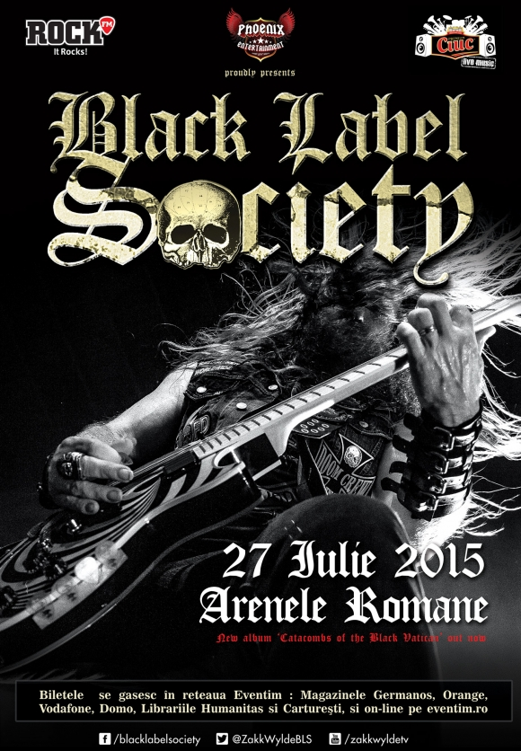 Black Label Society concerteaza in Romania in 2015