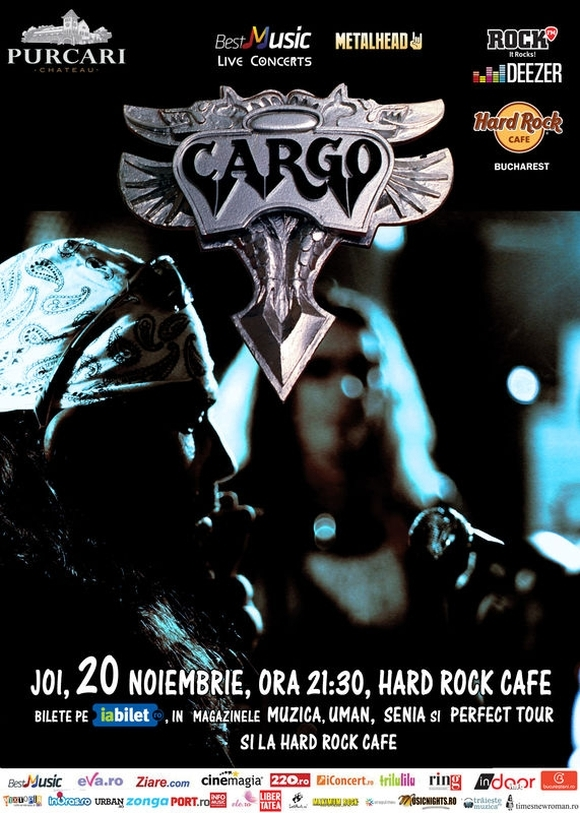 Concert Cargo la Hard Rock Cafe, Bucuresti