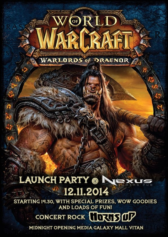 Concert Horns Up la Wow: Warlords of Draenor Launch Party