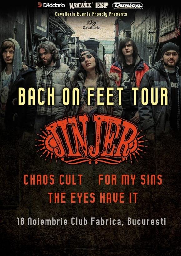 Concert Jinjer, Chaos Cult, For My Sins si The Eyes Have It in Fabrica