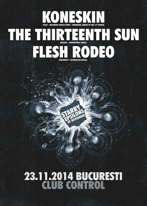 Concert Koneskin, The Thirteenth Sun si Flesh Rodeo in Club Control