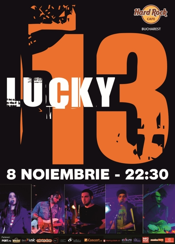 Concert Lucky 13 in Hard Rock Cafe, 8 noiembrie 2014