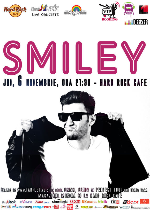 Concert Smiley in Hard Rock Cafe, 6 noiembrie 2014