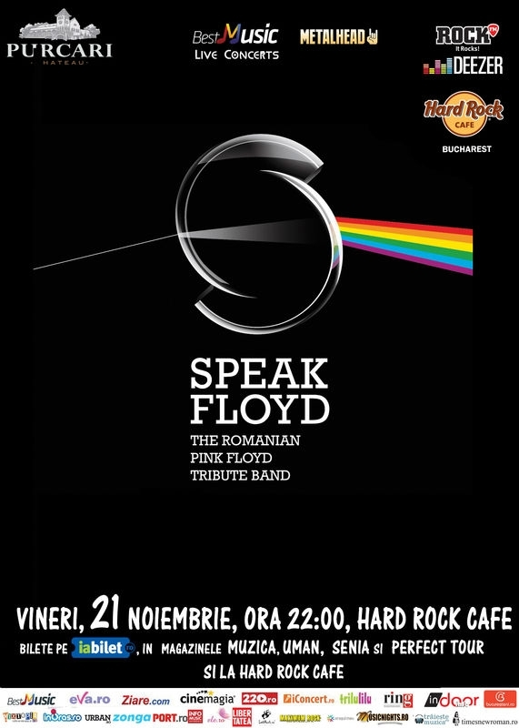 Concert tribut Pink Floyd cu Speak Floyd la Hard Rock Cafe