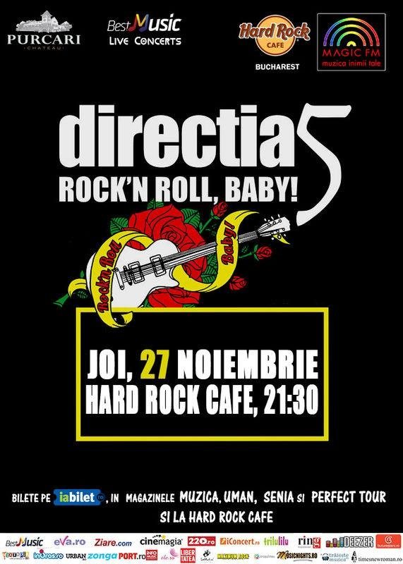 Rock N Roll Baby - concert Directia 5 in Hard Rock Cafe