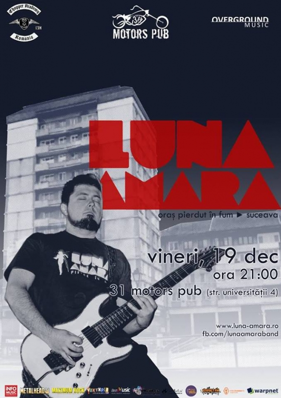 Concert Luna Amara la Suceava in The 31 Motors Pub