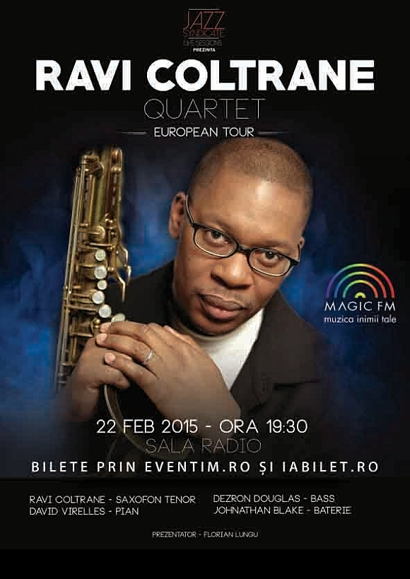 Ravi Coltrane aduce albumul Spirit Fiction la Sala Radio