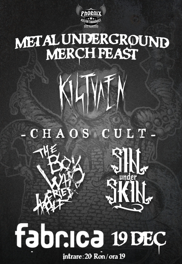 Mosh Pit si Merchandise la Metal Underground Merch Feast in Club Fabrica
