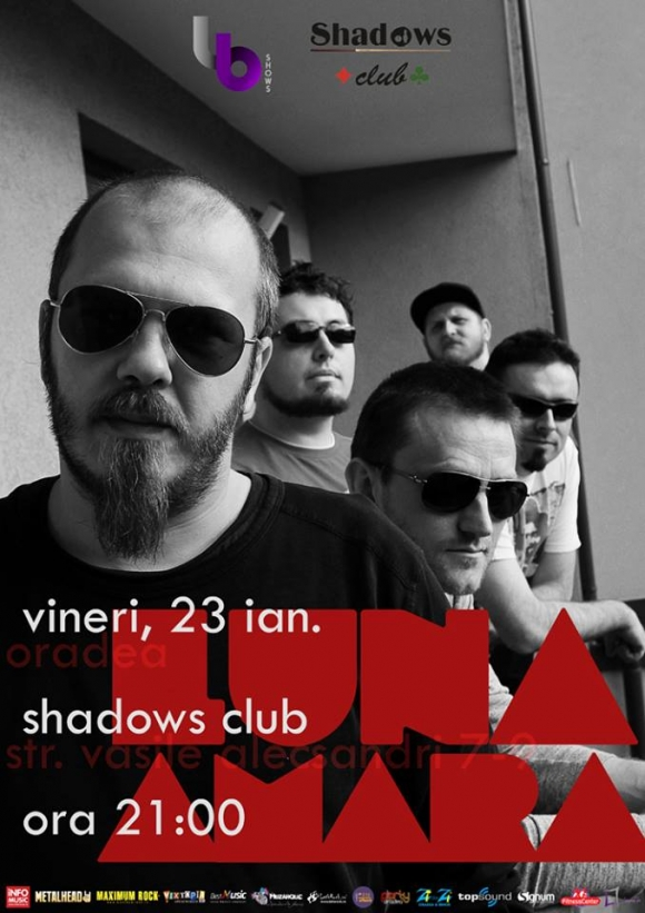 Concert Luna Amara in Shadows Club din Oradea