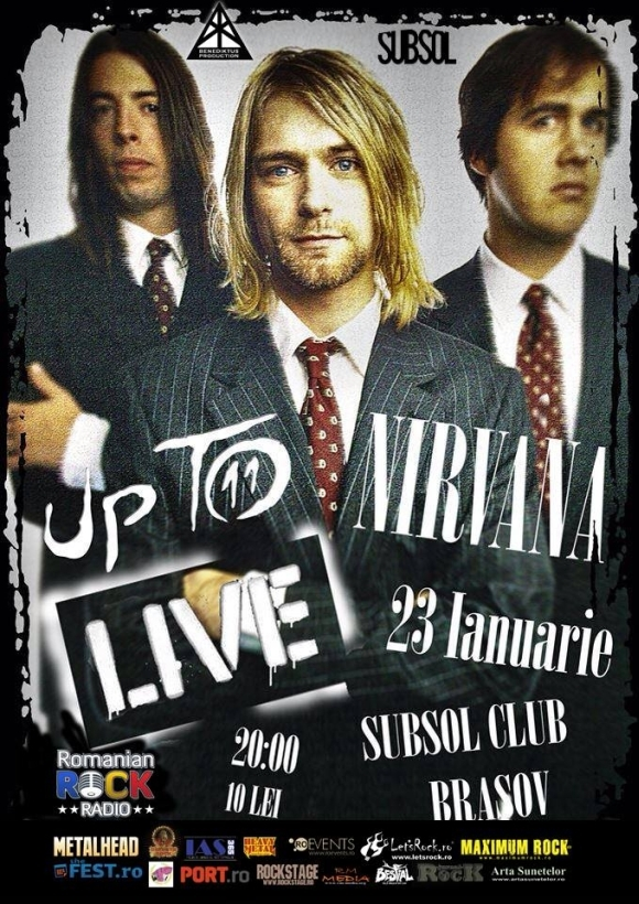 Concert Up To Nirvana live in Subsol Club din Brasov
