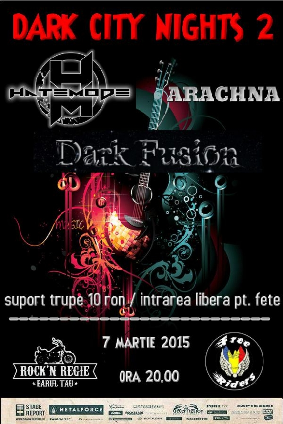 Dark City Nights 2 in Rock'n Regie cu Dark Fusion, Hatemode si Arachna