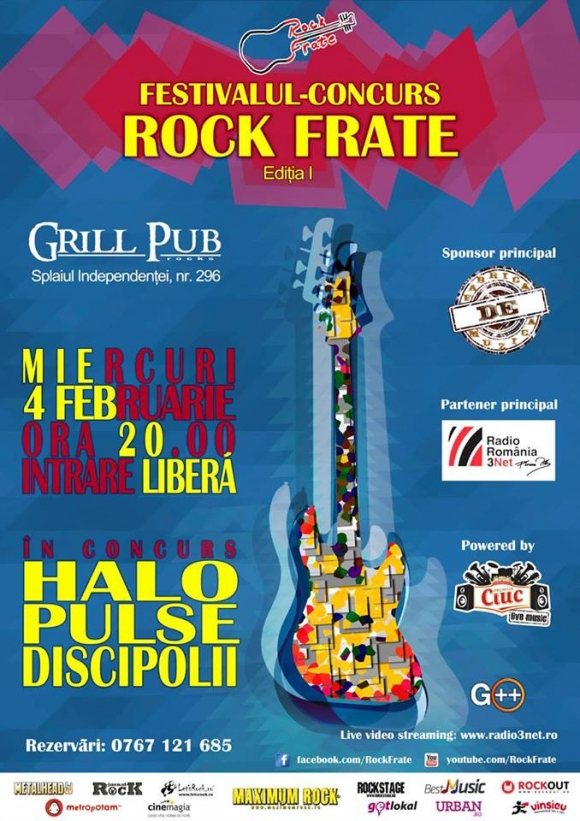 Festivalul concurs Rock Frate in Grill Pub