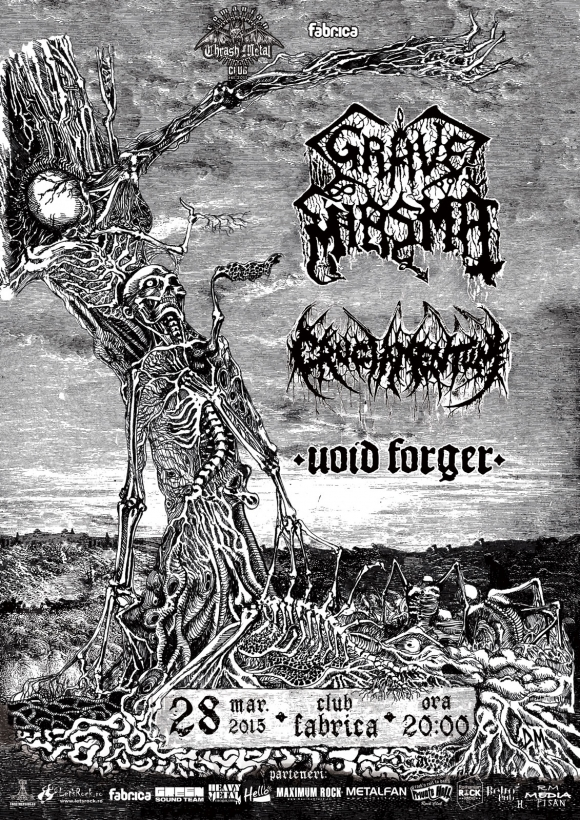Trupa Void Forger canta in deschidere la Grave Miasma & Cruciamentum