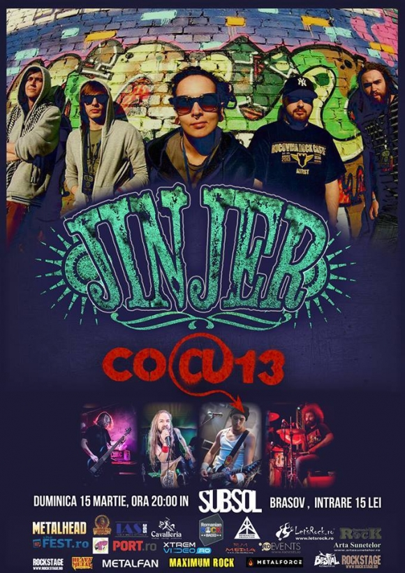 Concert Jinjer si Co@13 in Subsol Club