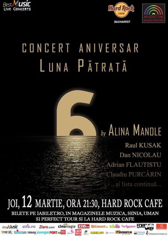 Concert aniversar Luna Patrata in Hard Rock Cafe