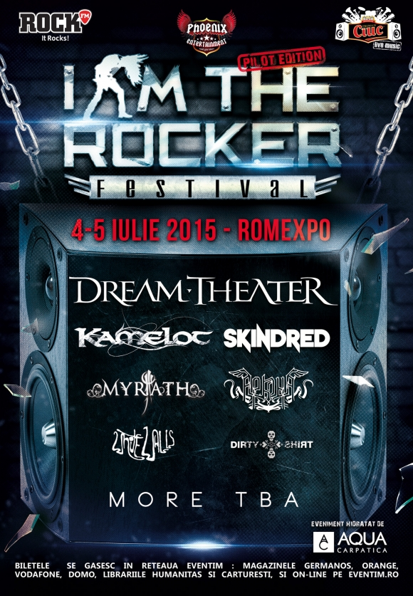 Kamelot, Skindred si Arkona se alatura trupelor Dream Theater, Myrath, Dirty Shirt si White Walls la I Am The Rocker