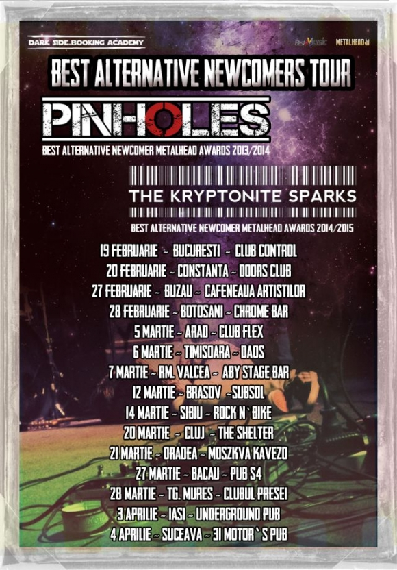 Pinholes si The Kryptonite Sparks in turneu
