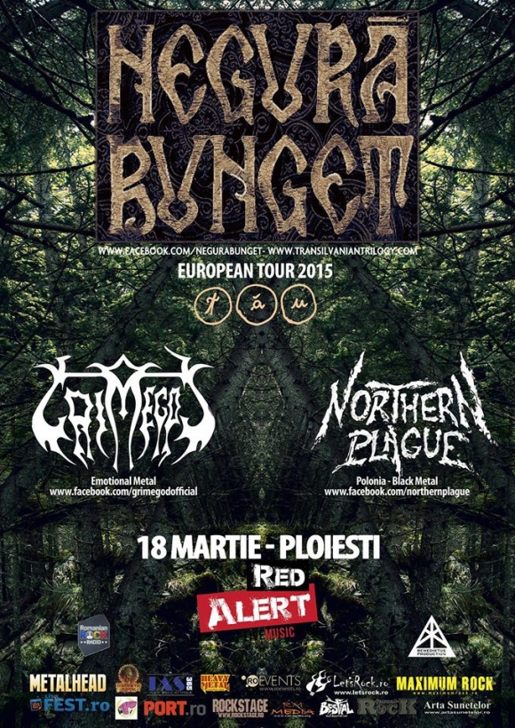 Concert Negura Bunget, Grimegod si Northern Plague in Red Alert