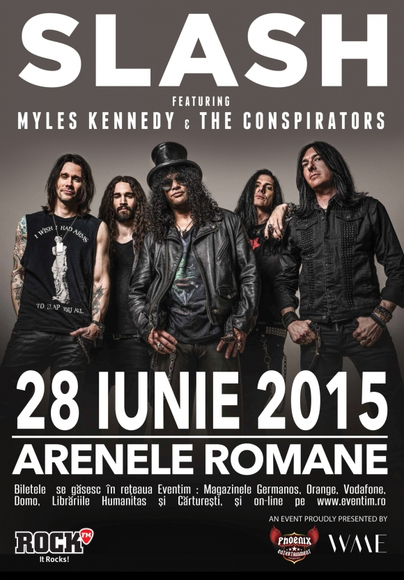 Concert Slash feat. Myles Kennedy & The Conspirators la Arenele Romane