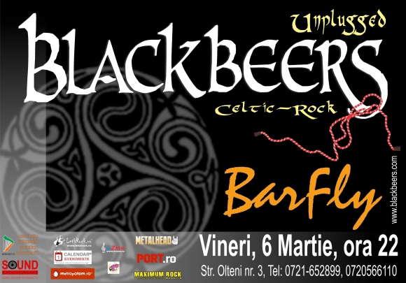Concert unplugged Blackbeers in Barfly