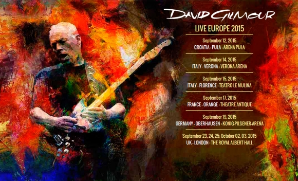 David Gilmour - Live Europe 2015 - sold out in mai putin de 30 de minute