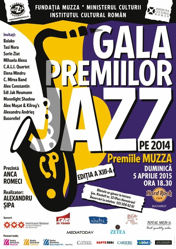Gala premiilor de Jazz, la Hard Rock Cafe