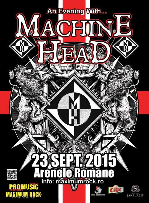 Concert Machine Head la Arenele Romane