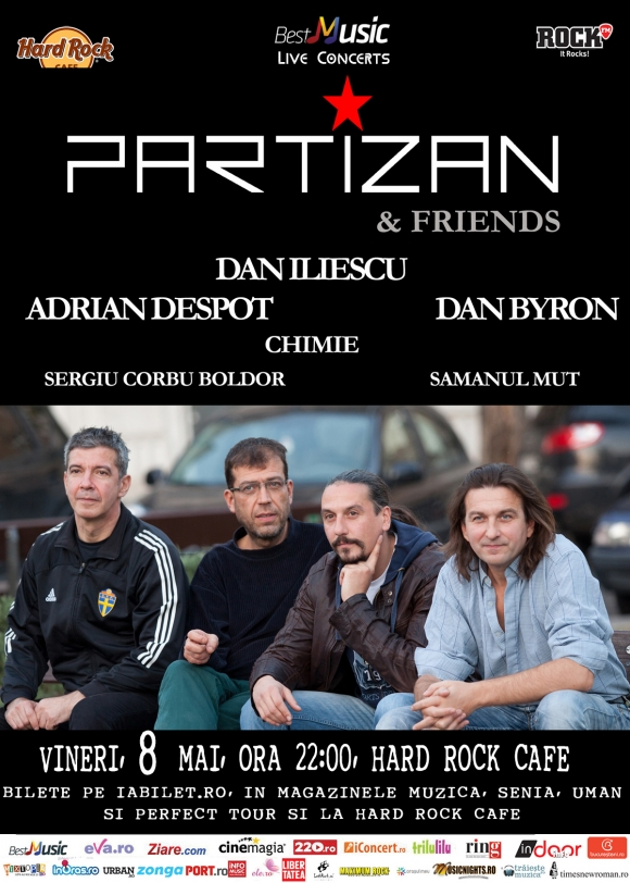 Concert Partizan & Friends la Hard Rock Cafe