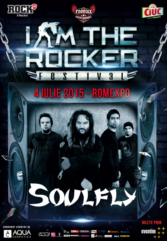 Legendarul Max Cavalera si trupa sa, Soulfly, vin la I Am The Rocker