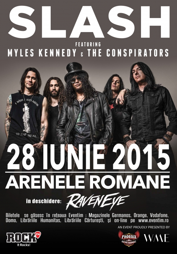 Trupa Raven Eye canta in deschidere la Slash ft. Myles Kennedy & The Conspirators