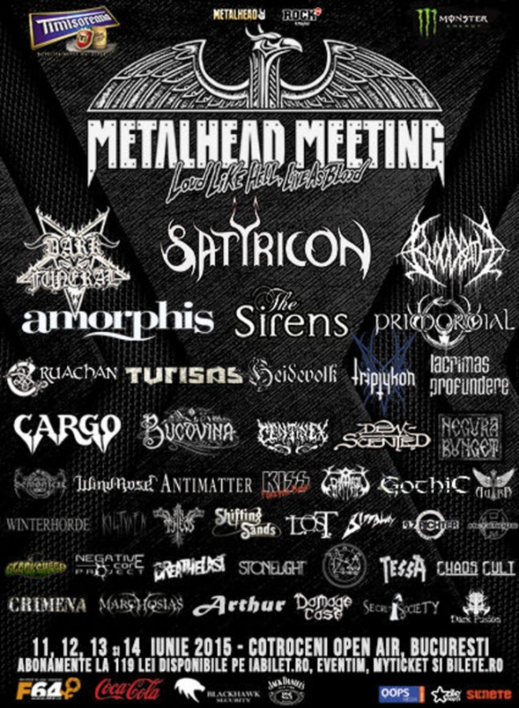 Metalhead Meeting 2015 la Cotroceni Open Air, Bucuresti
