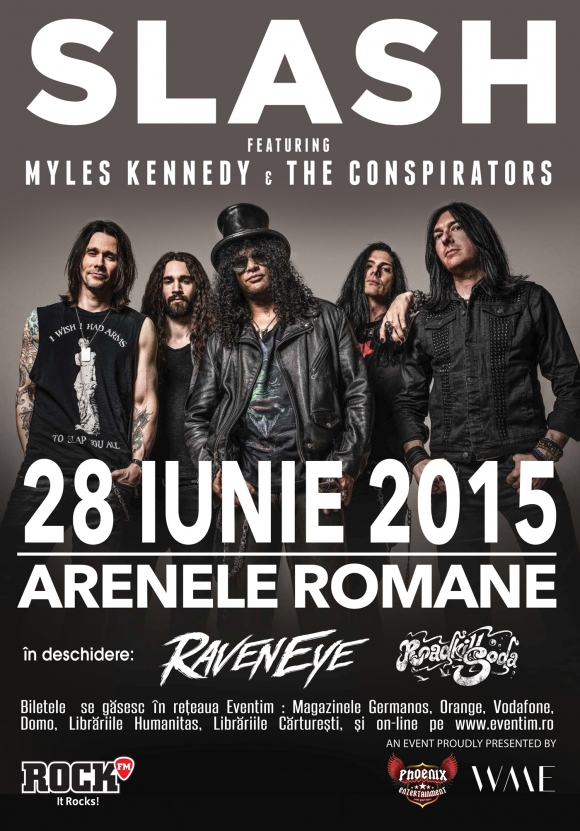 Roadkillsoda canta in deschiderea concertului lui Slash ft. Myles Kennedy and The Conspirators