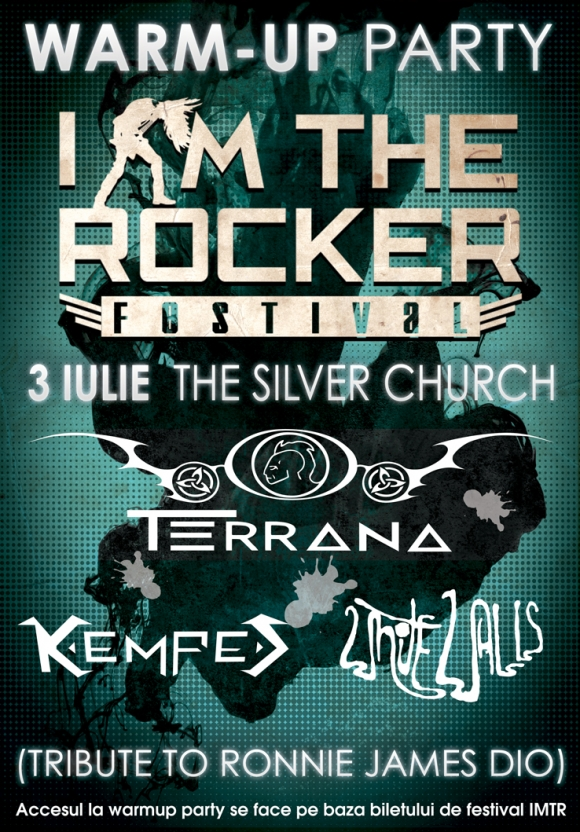 Warm up party I AM THE ROCKER cu Mike Terrana, Kempes si White Walls in The Silver Church
