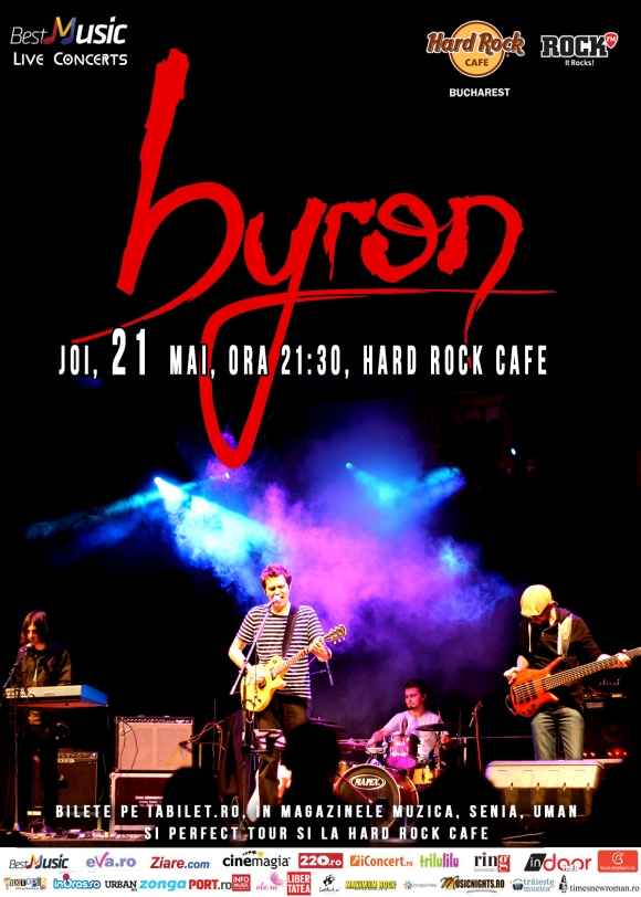 byron canta la Hard Rock Cafe